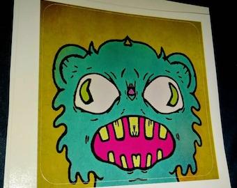 Screaming Bear Sticker