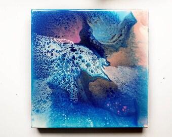 abstract painting, original art, modern art, fluid painting, fluid art, circle art, resin art, home decor, contemporary art, galaxy