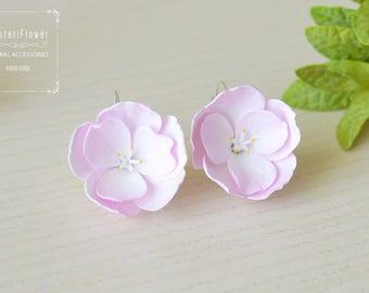 Sakura Earrings Flower earrings Gift for her sakura flowers bridal jewelry Cherry blossom jewelry Pink earrings for girls Pink wedding