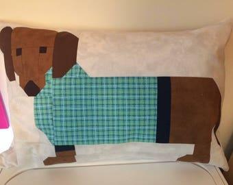 Weiner dog pillow