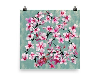 Watercolor Blossoms, Poster