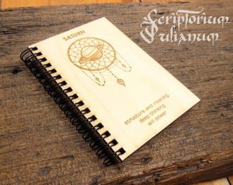 Saturn journal, Capricorn gift, gift for him, gift for her, Capricorn man, Saturn notebook, zodiac journal, alchemy journal, planet journal