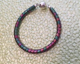 Multi Colored Bracelet with Magnetic Clasp