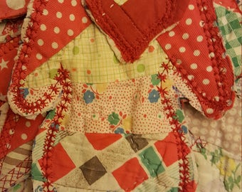 Vintage cutter quilt Christmas garland