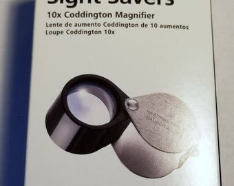 Bausch and Lomb 10x Coddington Magnifier new free ship