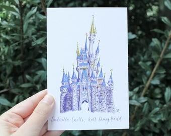 Cinderella Castle (Walt Disney World) // Postcard
