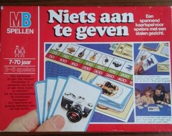 Vintage game Niets aan te geven Dutch game MB spellen