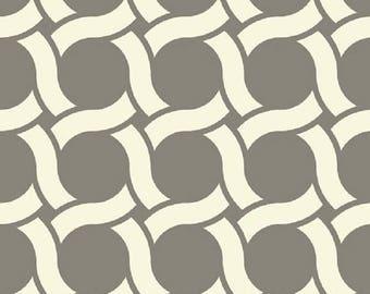 "ON SALE Cloud 9 Michelle Engel Bencsko  Organic Cotton Canvas -GeoCentric ""Circles""  Remnant"
