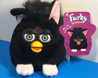 VINTAGE ELECTRONIC FURBY Big Light new tags plush stuffed animal toy Tiger ltd amazing play collectible black buddies hi me
