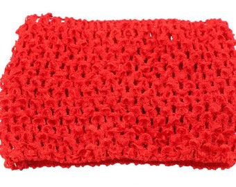 STRAPLESS STRETCH 0-16 MONTH RED CROCHET TUTU DRESS CREATION