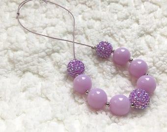 Purple childrens necklace