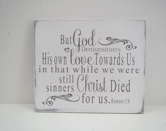 Scripture Verse Sign/Religious Sign/Painted Wood Sign