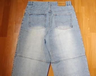 Dada Supreme jeans, vintage Damani baggy jeans, 90s hip-hop clothing, 1990s hip hop shirt, old school, OG, gangsta rap, size W 36