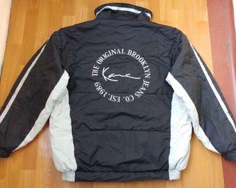 Karl Kani jacket, vintage black hip hop jacket, 90s hip-hop clothing, 1990s hip hop college jacket, OG, gangsta rap size XXL 2XL
