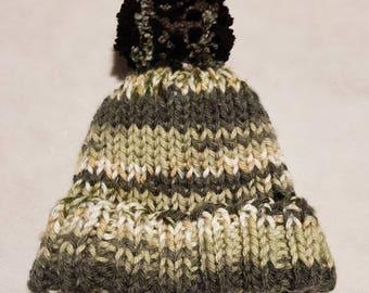 Hand knitted winter hat beanie