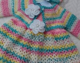 Handmade crochet dress set