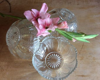 Antique EAPG Jefferson Glass 4 Beaded oval and fan fruit nappy 1880
