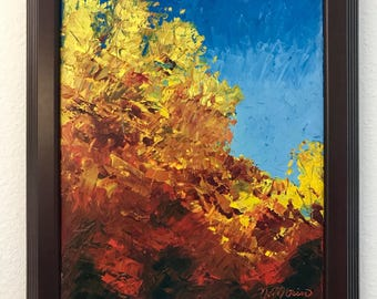 Fall Foliage knife painting