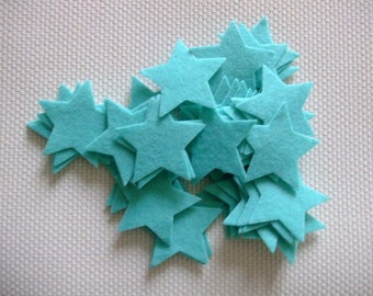 x 10 38 mm color felt stickers stars green scrapbooking, sewing, decoration...