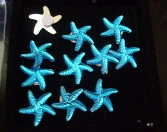 "August challenge ""Blue like the sea"" blue sea stars cabochons"