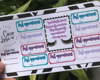 Lash Appointment - Planner Stickers