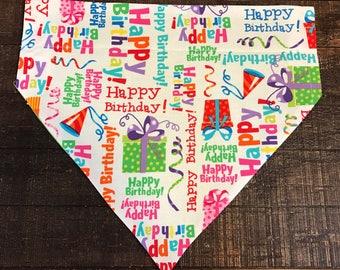 Happy Birthday, Celebrate!  Dog Bandana