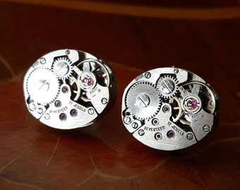 Vintage Watch Movement Earrings