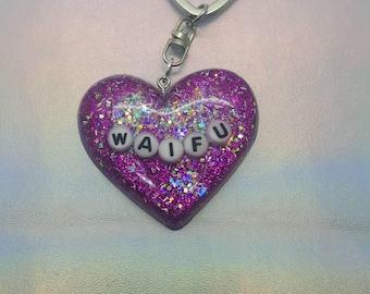 Waifu Heart Keychain