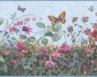 Floral Wallpaper Border B49516