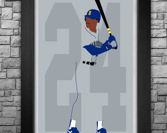 KEN GRIFFEY JR. minimalism style limited edition art print. Choose from 3 sizes!