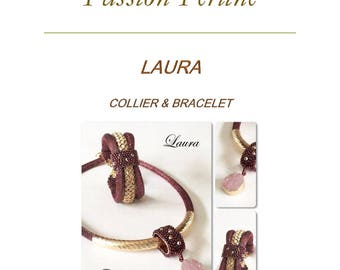 Pattern necklace and bracelet LAURA