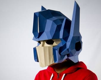Optimus Prime Mask, Transformers Mask , papercraft,DIY New Year Mask, 3D Polygon Masks, Printable Mask,Halloween Mask