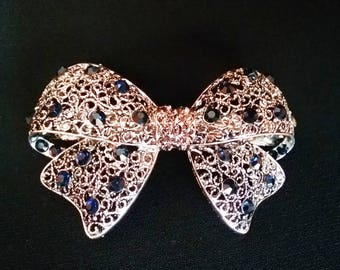 barrette hairpin Victorian Bow