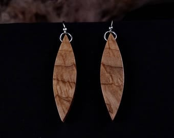 Modern Wood Earrings, handmade wood earrings, reclaimed recycled ecofriendly jewelry, locally reclaimed, modern rustic wood jewelry.