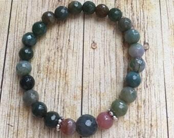Green Indian Agate Yoga bracelet