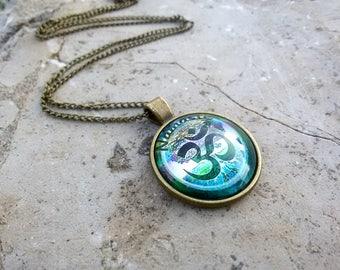 Om pendant Namaste necklace Yoga Charm jewelry Om Namaste pendant Spiritual gift for Yoga lovers necklace Meditation pendant