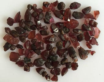 NATURAL GARNET ROUGH red loose mineral gemstones lot earthmined 4 to 8 mm approx random raw crystal wholesale reiki healing energy