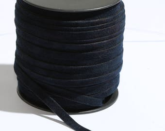 6mm Dark Blue suede leather , Cord, Leather, Bracalet Leather,Choker leather,Choker,