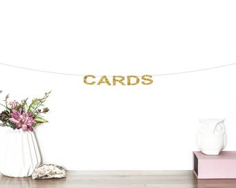Cards Glitter Banner | Wedding Cards Sign | Card Table Banner | Cards Sign | Wedding Banner | Wedding Decor | Cards Table Sign | Gift Table