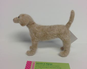 Needle Felted Tan Dog