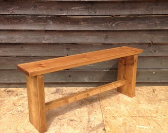 Rustic Wooden bench - handmade from beautiful reclaimed vintage pine. This bench is available for immediate dispatch.