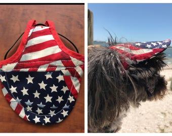 Adjustable Dog Sun Visor . Dog Hat . Dog Cap . Dog Visor