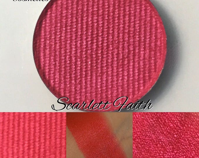 Scarlett Faith - True scarlet red satin matte