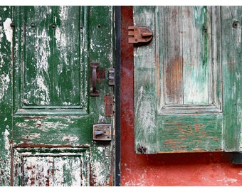 New Orleans photography, French Quarter, door photography, travel photography, architecture art print, rustic home decor, 11x14 print