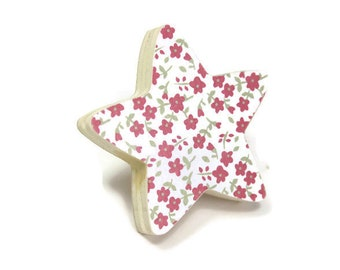 Button flowers star furniture, furniture kids room, Dresser knob.