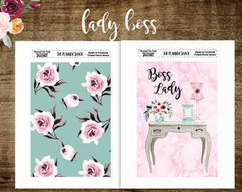 A5 Boss Lady Dashboards | Boss Lady | Floral | Printable | Printable | Printable Dashboards | Travelers Notebook | Tn Dashboards | A5
