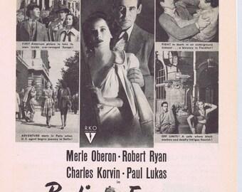Berlin Express 1948 Original Movie Ad with Merle Oberon and Robert Ryan