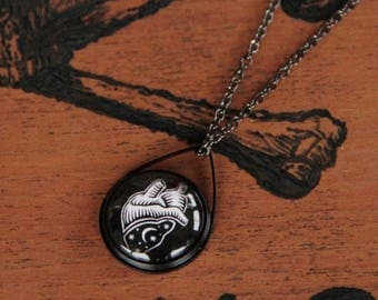 Black Cosmic Heart pendant