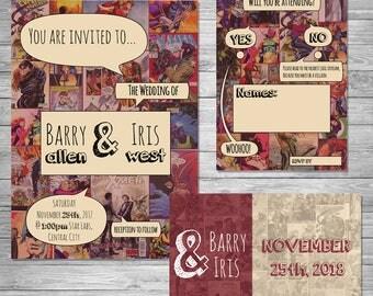 Comic Book Wedding Invitation Set ~Digital~