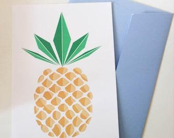 Map postcard pineapple